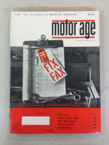 "April 1962 Chilton's Motor Age Magazine ""Eleventh Annual Specifications Issue"""