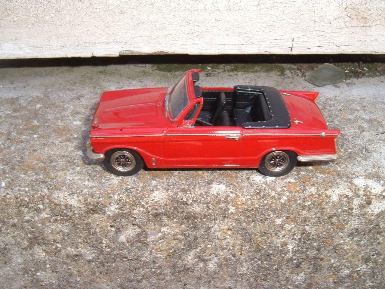 KENNA MODELS TRIUMPH VITESSE CONVERTIBLE TOP DOWN  UNBOXED 1 43 NO WING MIRRORS  sortie