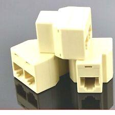 RJ11 6P4C Y 1 Female to 2 Female Adapter Divider Splitter Telephone Phone Fax_b