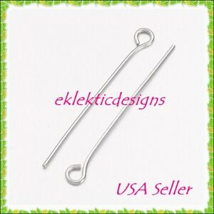 30mm-25pcs-7mm-21ga-304-Surgical-Stainless-Steel-Eyepins-Eye-Pins-Findings