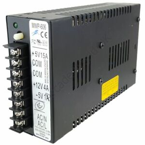 CoopéRative Prima Noir Commutation Jamma Power Supply 5 V & 12 V-mwp-606-afficher Le Titre D'origine