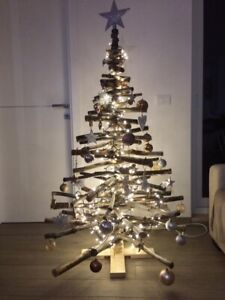 Alberi Di Natale In Legno.Albero Di Natale In Legno Luxury 150 Cm Ebay