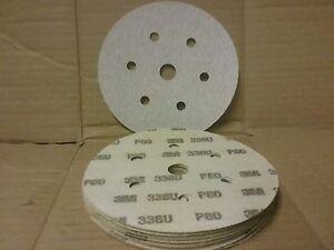 P80 Hook & Loop abrasive sanding discs   150mm 7 hole    Pack 6 Pads 25