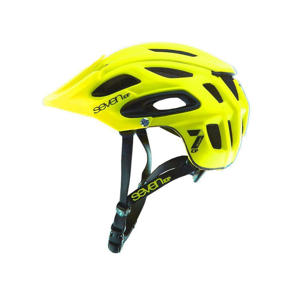 7idp M2 MTB Enduro Tutte le Montagne Cycle Casco Opaco Giallo Fluorescente  XL