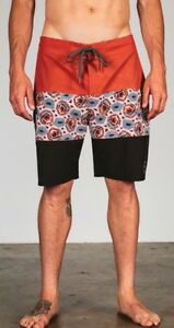 18e09554a8 NWT Matix Men's Dume Boardshort Rust/Black Polyester 2-Way Stretch ...