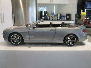 1-18-KYOSHO-08704S-BMW-M6-E64-CONVERTIBLE-SILVER-NEW