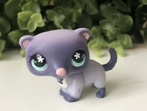 1-X-LPS-Littlest-Pet-Shop-Purple-Ferret-Blue-Flower-Eyes-Blue-Flower-Tattoo