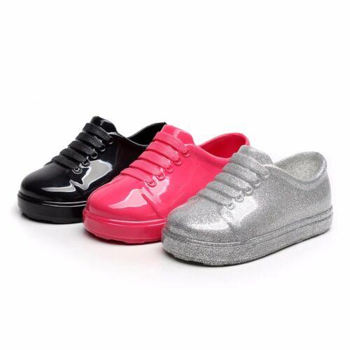 Child Soild Rubber Infant Rain Boots Waterproof Anti-Slip Kids Rain Shoes