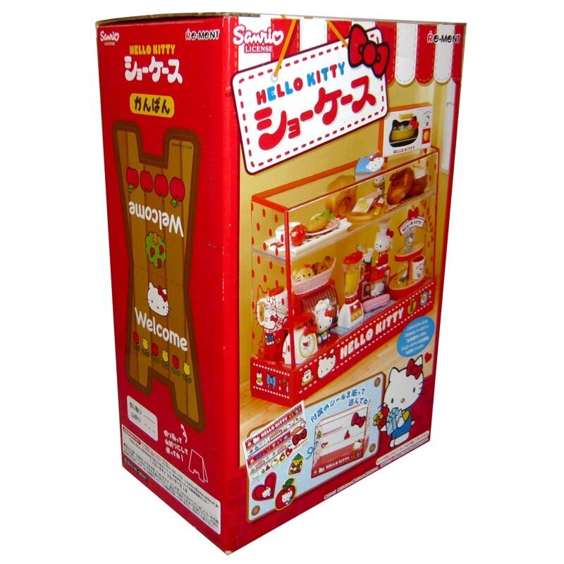 Rare 2010 Re-ment Hello Kitty Cake, Bread, Food Display Showcase Cabinet