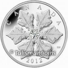 Canada 2012 Crystal Single Holiday Snowflake $20 Pure Silver Proof w/ Swarovski