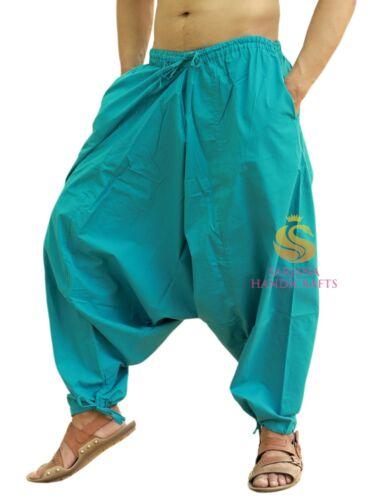 Hommes Coton Harem Pantalon femme Casual Pantalon Baggy Yoga Pant Aladdin Boho Hippie