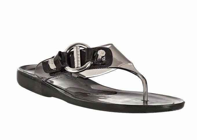 STUART WEITZMAN Clear Black Palma Casual Jelly Thong Sandals Flip Flops Size 7