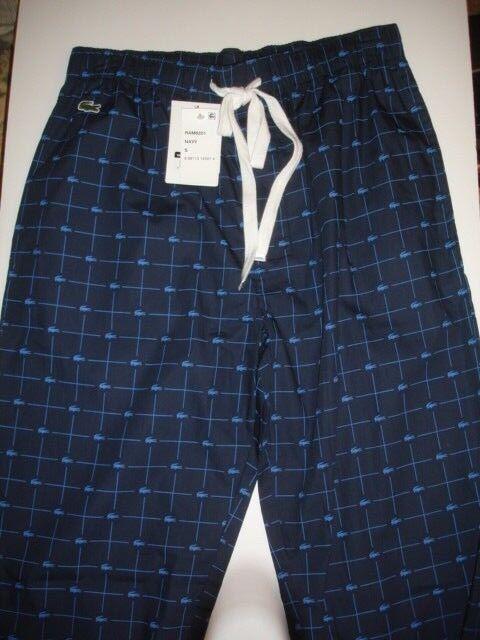 LACOSTE  SZ S Mens Navy Sleepwear Lounge Pants NWT