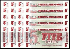 Great Britain 5 Pence 6th Series UNC 1972 M47 British Armed Forces UK