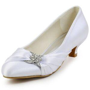 Purple Satin Shoes Low Heel
