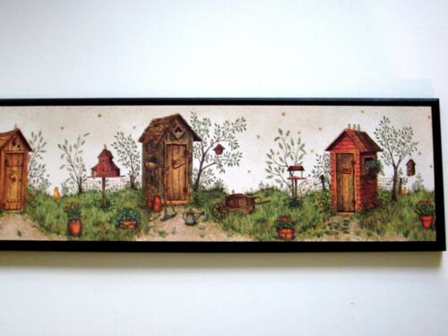 Outhouses His Hers Gaden Shed Wall Decor Picture country bathroom primitive bath
