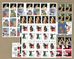 MINT BOOKLET PANE 32-CENT TO FOREVER 8 DIFFERENT CHRISTMAS UNFOLDED MNH FV $67