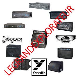 ultimate yorkville traynor audio repair service schematics manuals rh ebay com
