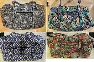 VERA BRADLEY Large Duffel Travel College Bag Camocat Camofloral Nomadic Floral   EBay