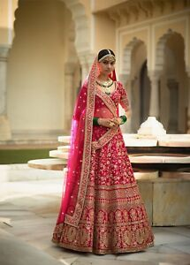 f5eb30477 Image is loading Sabyasachi-Replica-Pink-Heavy-Indian-Ethnic-Bridal-Lehenga-