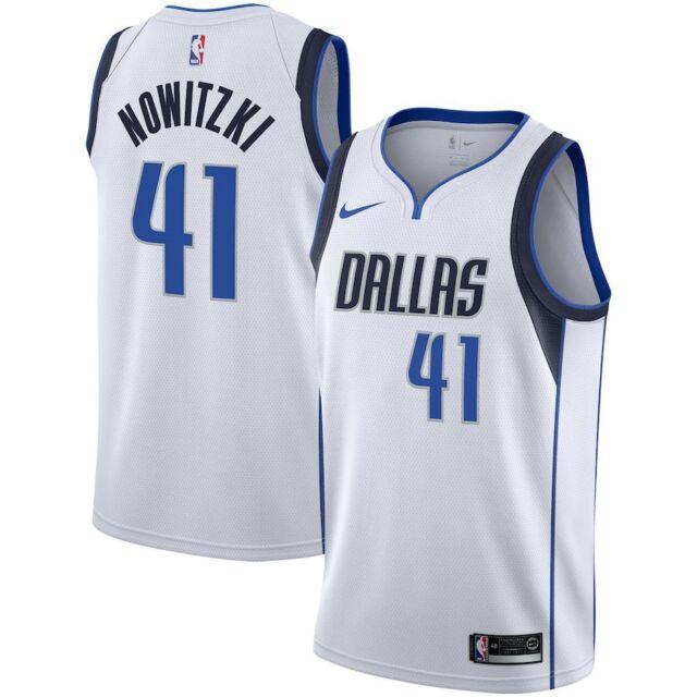 Dallas Mavericks - Dirk Nowitzki  41 Nike White NBA Swingman Association  Jersey fe9132c2f
