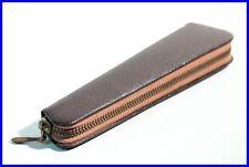 60er GOLDFINK Leder Etui Braun - 1 Füller o Bleistift / leather pouch for 1 pen