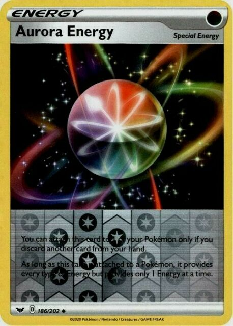 Pokemon Trainer Card - Aurora Energy 186/202 - Reverse Holo - NM