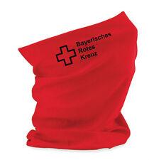 Halstuch Universaltuch Morf in rot mit Aufdruck Bayerisches Rotes Kreuz BRK