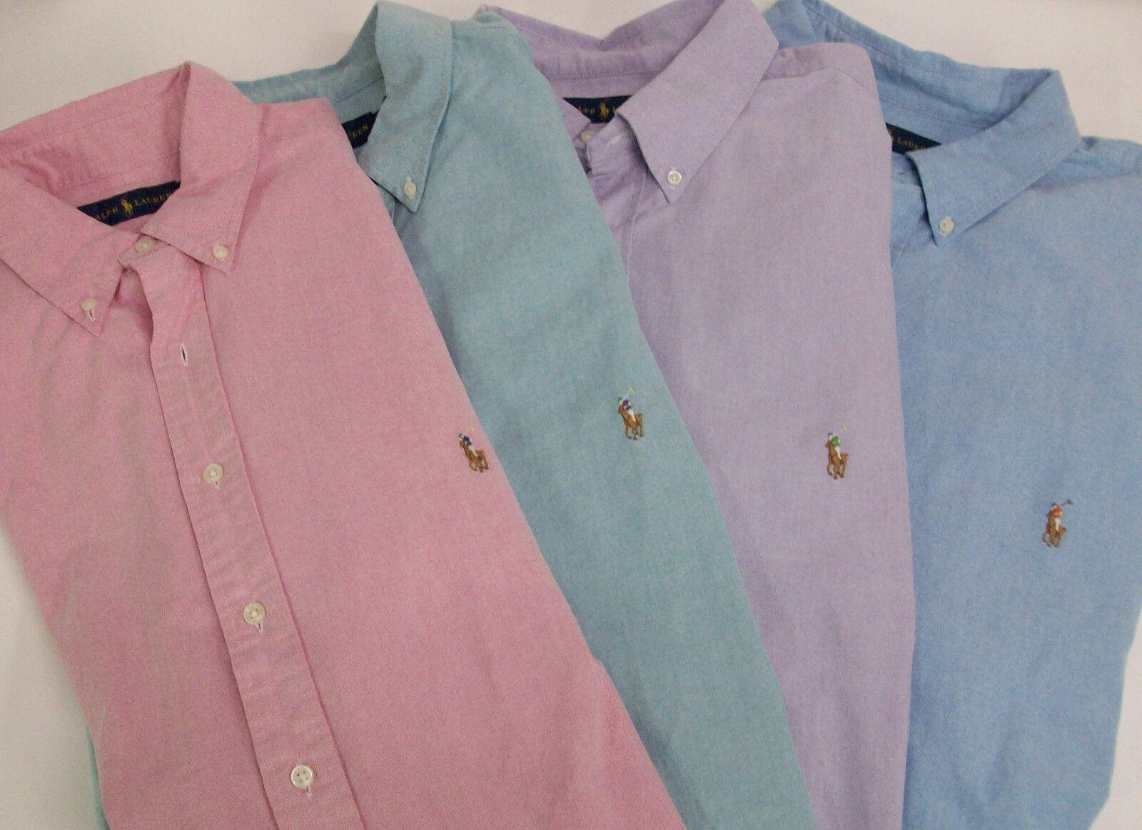 Polo Ralph Lauren LS Oxford Sport Shirt  OR   W  Multicolor Pony Logo NWT