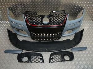 VW-GOLF-MK5-2004-2008-GTI-FRONT-BUMPER-WITH-GRILLES-PAINTED-ANY-COLOUR