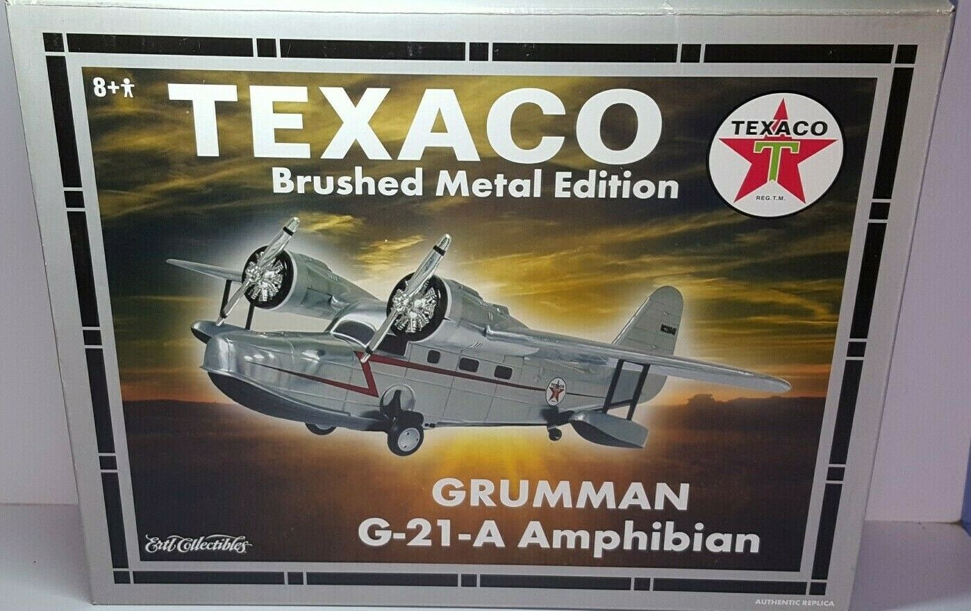 1 38 ERTL WINGS OF TEXACO  16 GRUMhomme  G-21-A AMPHIBIAN BRUSH METAL EDITION  loisir