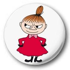 "LITTLE MY - 25mm 1"" Button Badge - Kids Retro TV Novelty Nostalgia Moomin"