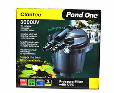 Pond One Claritech 3000UV Canister Pond Filter |  water Pump Not Included