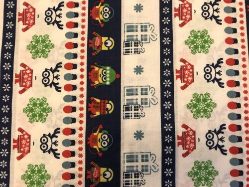 Christmas FQ Fat Quarter Fabric Blue Minions 100/% Cotton Quilting
