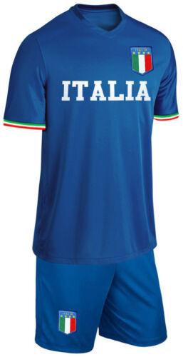 Italien Baby Trikot Set Fußball Fan Zweiteiler Blau