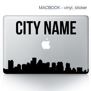 Custom City Name Macbook Stickers On Vinyl Laptop Sticker City - Custom vinyl laptop decals