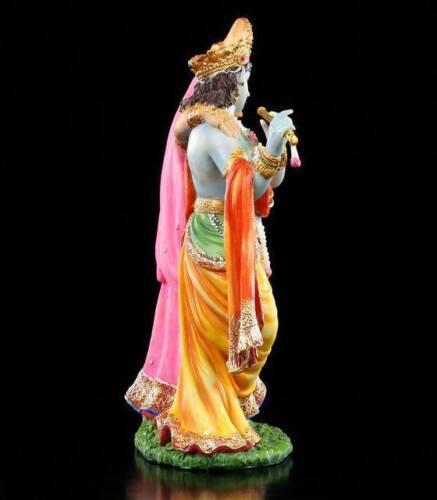 Hindu Götter Figuren bunt blau Buddha Statue Krishna und Radha