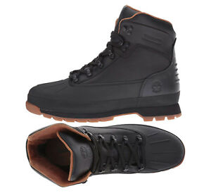 76dd1d64a86 Timberland Boots Euro Hiker Mens Shell Toe Hiking Boots Black New ...