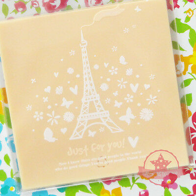 15 pcs paris eiffel tower Self Adhesive Plastic Jewelry Cookie Packing Bags