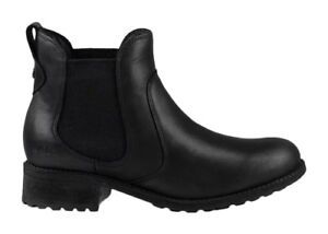 039add88c2b Details about UGG Bonham Black Leather Chelsea Style Womens BOOTS US 10