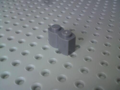 Lego Brick 1x2 with Corrugated effect 30136 Dark Grey x16