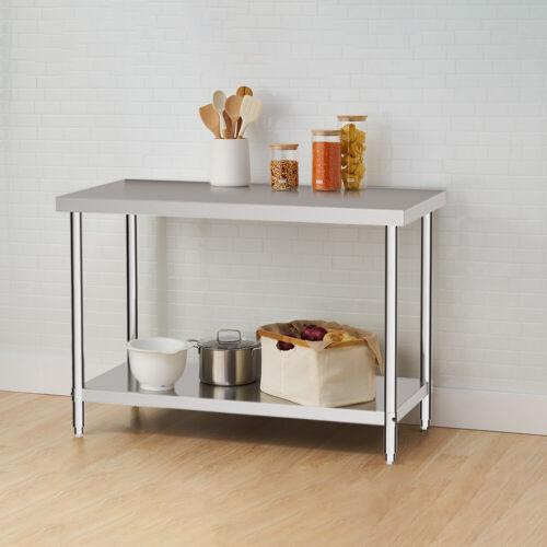 Stainless Steel Work Bench Workshop Kitchen Worktop Work Bench+backplash
