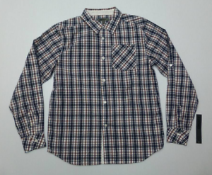 acb77bd29 DKNY Boys Size XL (18-20) Blue & Red Plaid Button Front Shirt New ...