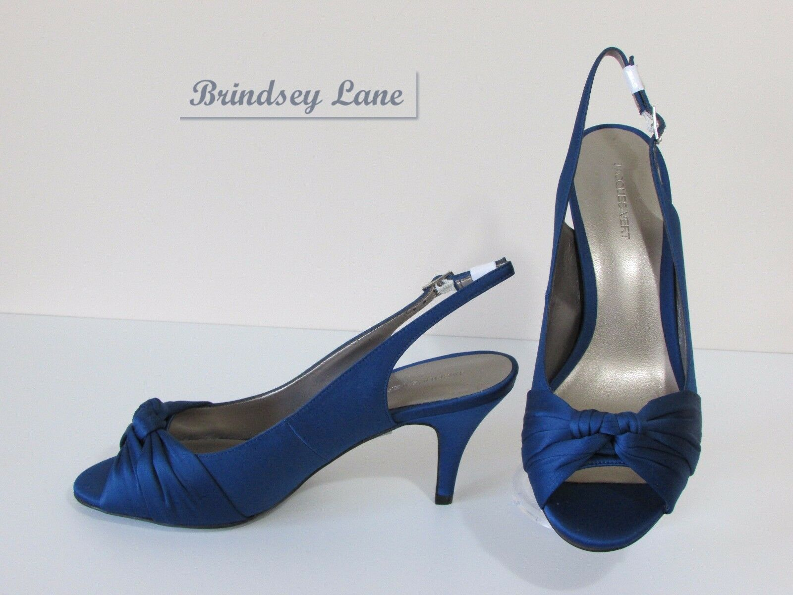 New Jacques Vert French Blau Schuhes & Bag  Knot  Detail  6/39   Knot      RR2 750274