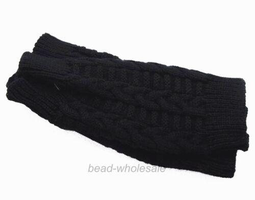 Fashion Unisex Men//Women Knitted Fingerless Winter Gloves Soft Warm Mitten Solid