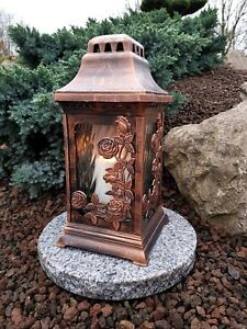bougie Sépulture socle sépulture Lampe Lampe Pour Tombe sépulture Bronze Lampe