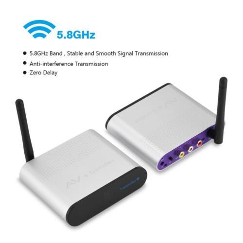 5.8Ghz AV Sender 300M Wireless Transmitter Receiver TV Audio Video Extender