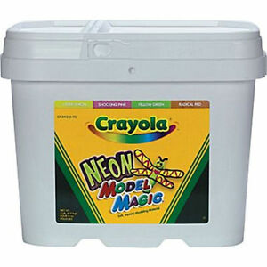 Crayola-Neon-Model-Magic-2-lb-Bucket-air-dries-for-sculpting-activities