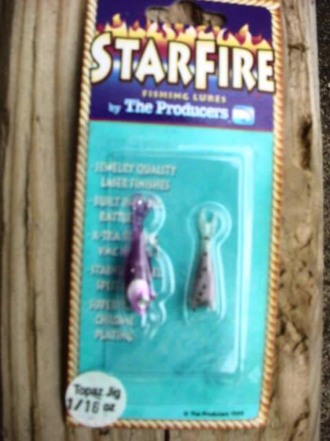 12-Producers Starfire Shad Topaz Jig-PURPLE-SZ 1//8