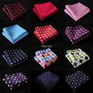 HOT-10-034-Polka-Dot-Men-Silk-Satin-Hanky-Wedding-Party-Handkerchief-Pocket-Square